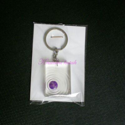Privezak za ključeve RP001AHL ljubičasti ahat