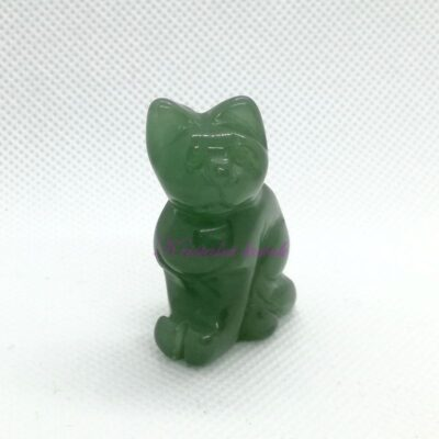 Figurica mačka FU004AVZ zeleni aventurin