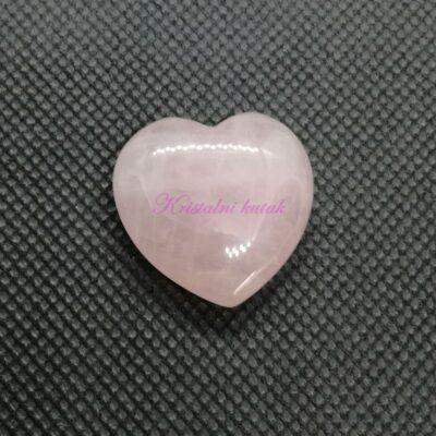 Figurica srce FU005RKV roze kvarc