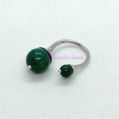 Prsten R017AHZ zeleni ahat