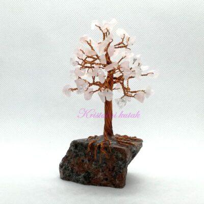 Ukrasno drvce manje DU001RKV roze kvarc