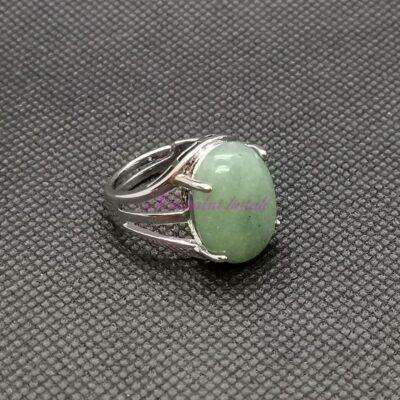 Prsten R022AVZ zeleni aventurin