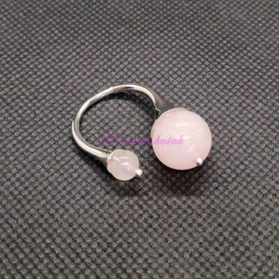 Prsten R017RKV roze kvarc